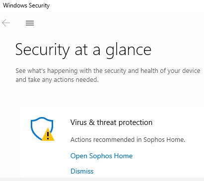 Sophos Home - Windows security center integration – Sophos